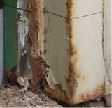 corroded metal door frame