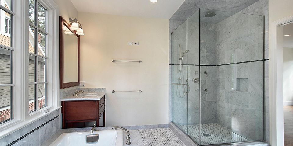 5 Benefits of Glass Shower Doors vs. Shower Curtains - Action Glass Shower  Doors of Arizona